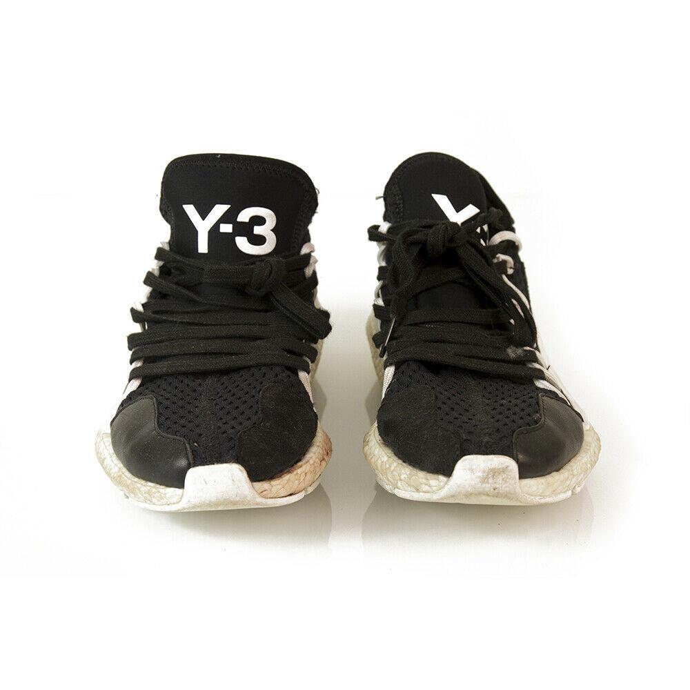 Y-3 Adidas Yohji Yamamoto Kusari Black White Sole Sneakers Trainers shoe US 6.5  image 4