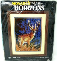 Monarch Horizons White Tail Deer T1357 Needlepoint 16x12 New Wool Roger Reinardy - $45.99