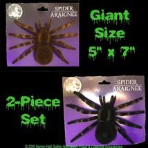 Realistic Flocked GIANT TARANTULA SPIDERS Scary Horror Halloween Prop De... - €6,98 EUR