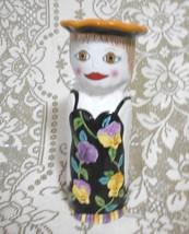Sophie Ganz Bella Casa  Floral Ceramic Vase Designer Susan Paley 10 inches - $12.17