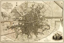 1797 Map City Plan Dublin Ireland Irish History Wall Art Print Poster 11... - $12.38