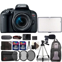 Canon EOS Rebel T7i 24.2MP Digital SLR Camera with18-55mm and VL288LED L... - $910.05