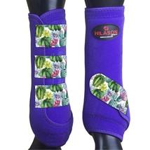 M - Hilason Horse Medicine Sports Boots Front Leg Purple U-US-M - $65.33