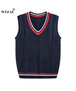 2017 New Autumn Winter Cashmere Classic Vest Sweater Men Sleeveless Swea... - $29.98
