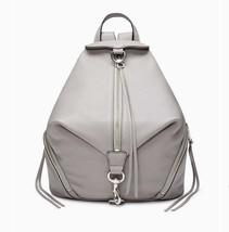 NWT REBECCA MINKOFF Lrg Julian Full Size Leather Backpack Grey Silver AU... - $224.00