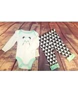 Cloud Island Baby Girl 3 pcs Panda Outfit Long Sleeve Creeper,Pants, Bib... - $9.49