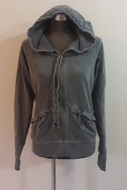 Juicy Couture Charcoal Gray Cotton Zip Front Hoodie Jacket Size XL Womens - $22.50