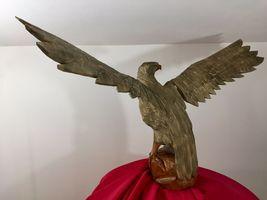 Mid century Black Forest German Eagle wood carved hunting deco design bauhaus image 4