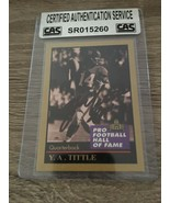 New York Giants Y.A. TITTLE HOF autographed signed Football card 1991 W/COA - $16.82