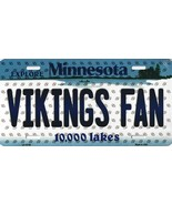 Vikings Minnesota State Background Metal License Plate Tag (Vikings Fan) - $11.95