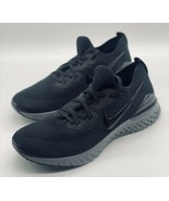 NEW Nike Epic React Flyknit Black Grey BQ8927-001 Women's Size 11 - $138.59