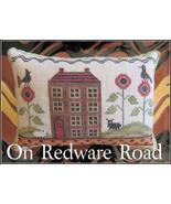 On Redware Road cross stitch chart The Scarlett House - $9.00