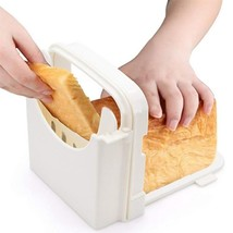 Bread Slicer Toast Cutting Guide Folding Adjustable Handed Homemade Mach... - €11,29 EUR
