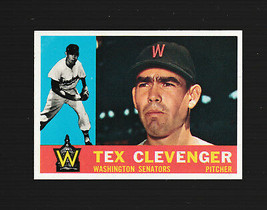 1960 Topps Baseball Card # 392 Tex Clevenger Washington Senators EXCELLENT - $1.29