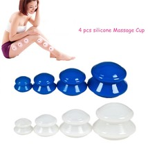 Massage Anti Cellulite Vacuum Cupping Cup Silicone Facial Body Therapy S... - $12.87