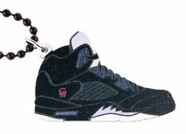 Good Wood NYC Metallic 5 Sneaker Necklace Black/Silver Fire Red V Shoe Kicks