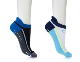 `Copper Fit 2 Pair Gripper Unisex Performance Socks, Blue, Size S/M - $11.87