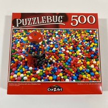 """PUZZLEBUG CraZart 18.25"""" X 11"""" Puzzle 500 Piece BUBBLE GUM MACHINE & LOT... - $13.05"""