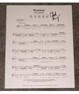 Chad Kroeger Hand Signed Rockstar Sheet Music COA Nickelback - $64.99