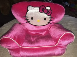 Build - a - Bear Hello Kitty Hot Pink Plush Doll Chair Seat Loveseat 201... - $13.85