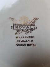 1930-1940 Quban Royal Royal China 22K Gold Floral Pattern Berry Bowls (6) - $11.87