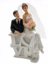 Bride and Groom with Love Sign cake topper - $12.82