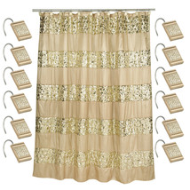 Popular Bath Sinatra Champagne 70 x 72 Bathroom Fabric Shower Curtain & ... - $39.59