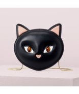 kate spade Cats Meow Cat Leather Crossbody Clutch ~NWT~ Black - $172.66