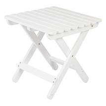 Shine Company 4109WT Adirondack Square Folding Table, White - $50.18