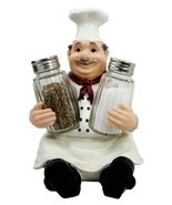 Ebros Italian Head Chef Mario Salt and Pepper Shakers Holder Figurine As... - $19.75