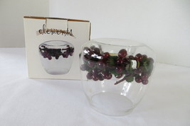 Elements Cranberry Tealite Candle Glass Bowl - $6.79