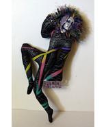"17"" Hand Made Harlequin Rag Doll Ceramic Face String Hair - $37.99"