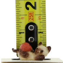 Hagen Renaker Miniature Cat Siamese Kitten with Yarn image 2