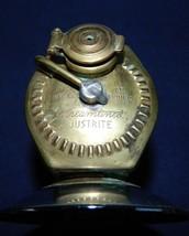 Antique Streamlined JUSTRITE Carbide Helmet Lantern With Rubber Hand Grip - $74.76