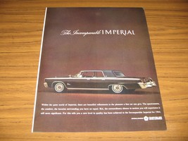 1964 Print Ad The '64 Chrysler Imperial LeBaron 4-Door Incomparable - $13.96