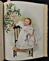 1898 antique THE LITTLEST ONES child art MAUD HUMPHREY book w 12 COLOR P... - $224.95