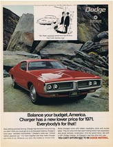 1971 Dodge Charger Print Ad - $9.99