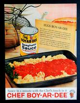 Vtg 1962 Chef Boy Ar Dee spaghetti sauce advertisement print ad art.  - $12.68