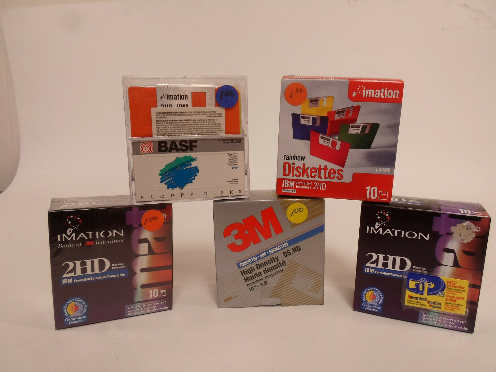 """5 NEW 3.5/"""" Floppy Disks Diskettes 1.44MB DS//HD by Sony"""