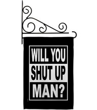Will you Shut Up - Impressions Decorative Metal Fansy Wall Bracket Garde... - $27.97