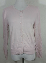 H and M Basic Womens Cardigan Medium Pink Button Down Sweater Long Sleev... - $13.25 CAD