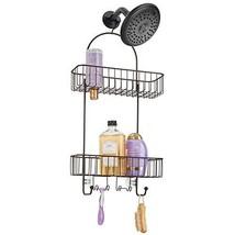 mDesign Metal Bathroom Tub & Shower Caddy, Hanging Storage (Bronze) - $27.29