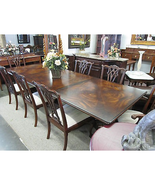 Hickory White Kings Row Double Pedestal Dining Table Swirl Mahogany - $2,869.00
