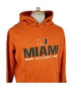 University of Miami Volleyball Hoodie Sweatshirt Large Pullover Orange J... - $19.99