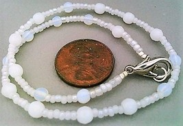 White Opal Glass Bracelet - $11.62