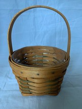 Longaberger 1990 Small Measuring Basket with Stationary Handle and Protector - $18.49