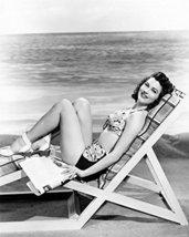 Ava Gardner 16X20 Canvas Giclee In Bikini Lying On Chair On Beach - $69.99