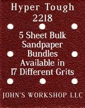 Hyper Tough 2218 - 1/4 Sheet - 17 Grits - No-Slip - 5 Sandpaper Bulk Bundles - $7.14