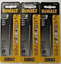 """DEWALT DW1208 1/8"""" Cobalt Split Point Twist Drill Bits 3PKS - $4.46"""