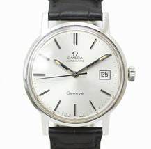 OMEGA Omega Geneve Geneva Date self-winding Outside leather belt watch m... - $741.13